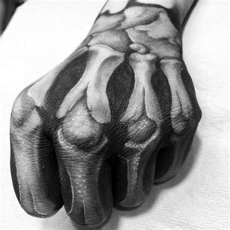 3d tattoo hand bones 75 skeleton hand tattoo designs for men manly ink ideas