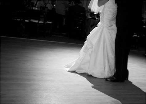 Artistic black and white wedding photo  bride and groom