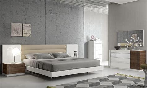 fashionable leather modern design bed set  long panels detroit michigan jm furniture lisbon