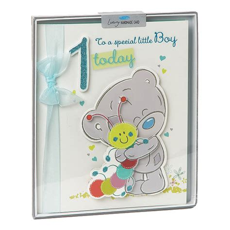 Handmade Boy Birthday Cards - 1st birthday boy me to you handmade boxed card