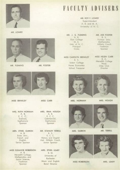 plymouth high school nc explore 1952 plymouth high school yearbook plymouth nc