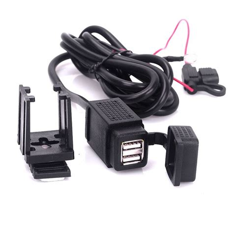 motorcycle mobiel dual usb charger   stopcontact power