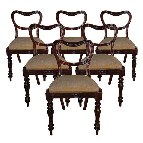 Antique Dining Chairs Uk Set Of 6 Late Regency Rosewood Dining Chairs 241824 Sellingantiques Co Uk