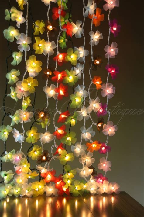 20 Purple Nylon Orchid Flower Led String Fairy Lights New Orchid Lights