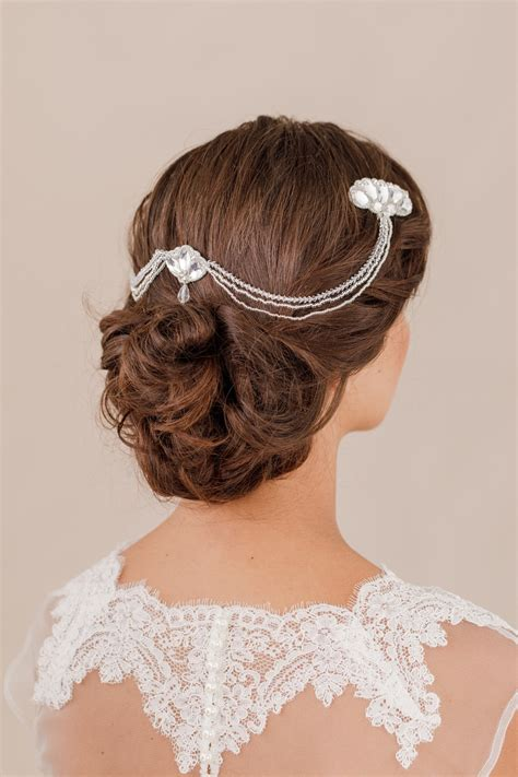 wedding hair comb with chains by britten weddings best of british luxury handcrafted bridal accessories