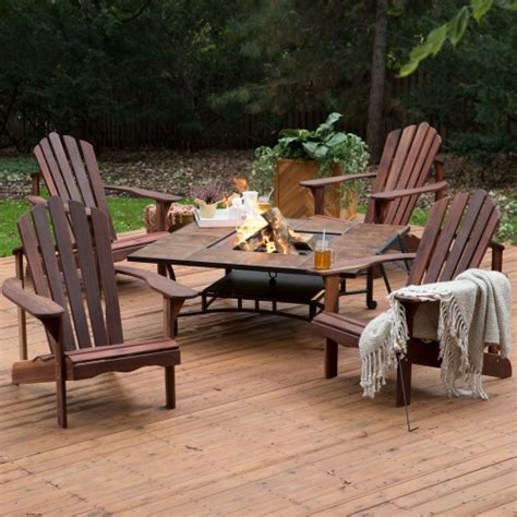 firepit sets belham living richmond deluxe adirondack chair pit