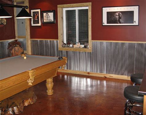 Garage Wainscoting Ideas by Rustic Pole Barn Cave Studio Design Gallery