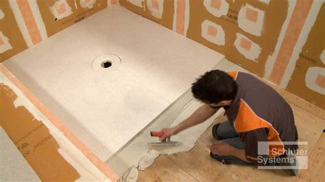 how to install a shower r schluter 174 kerdi shower sr