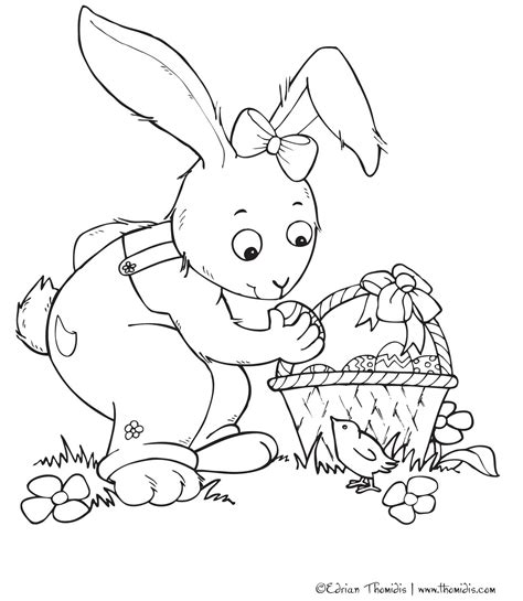 cute bunnies coloring pages