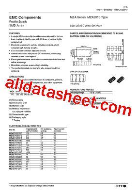 tdk capacitors datasheet mza2010d330c datasheet pdf tdk electronics