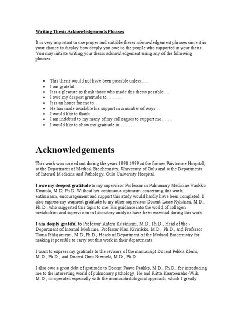 thesis acknowledgement how to write writing thesis acknowledgements phrases teachers data