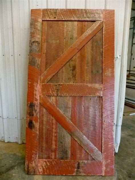 Sliding Barn Door Reclaimed Red Barnwood Rustic Rustic Sliding Barn Doors