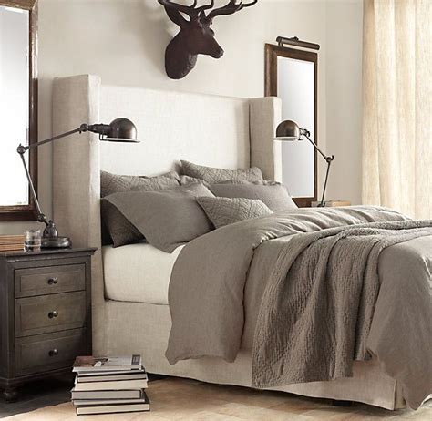 restoration hardware bed shelter bed upholstered beds
