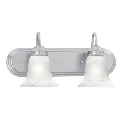 Brushed Nickel Vanity Lights Bathroom Shop Lighting 2 Light Homestead Brushed Nickel Bathroom Vanity Light At Lowes