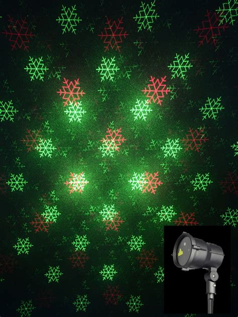 christmas pattern laser multi point red green christmas pattern garden laser