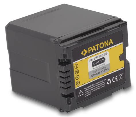Battery Panasonic Vbg 260 patona battery for panasonic vw vbg260 compatible to vw vbg070 vw vbg130 batterijen accu s