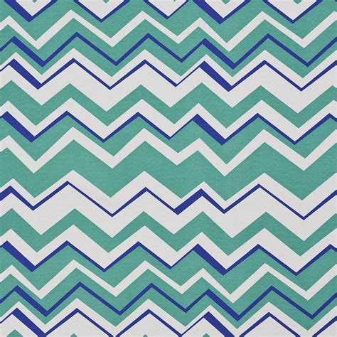 Chevron Upholstery Fabric Teal Blue And White Chevron Stitch Outdoor