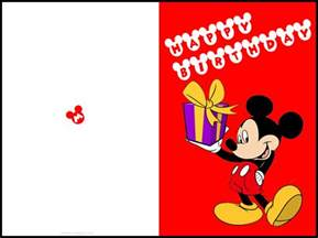 birthday cards to print free printable mickey mouse birthday cards luxury