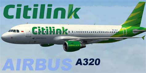Citilink Flight Code | citilink airbus a320 200 pk glv for fsx