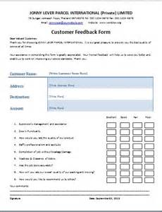 the customer feedback form is a written document or tool