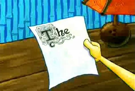 spongebob writing paper the picture my friend sent when i asked how the essay was