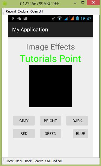 tutorial android image processing android image effects