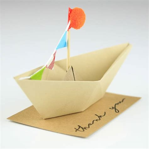 Origami Thank You - thank you origami boat greeting decoration by nest