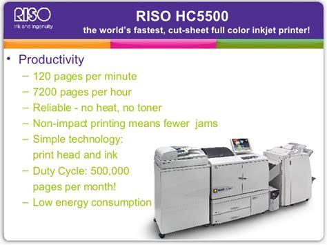 Riso Hc5500 Full Color Digital Printer