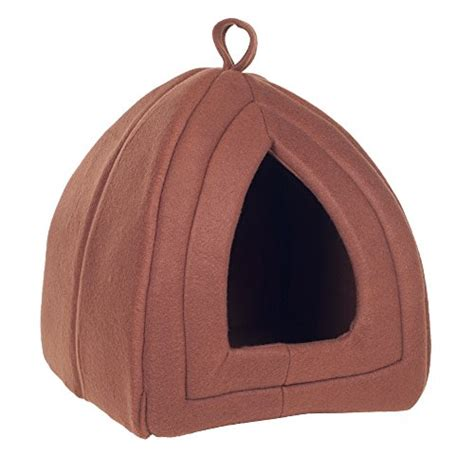 Enclosed Cat Bed by Petmaker Cozy Tent Igloo Plush Enclosed Cat Bed