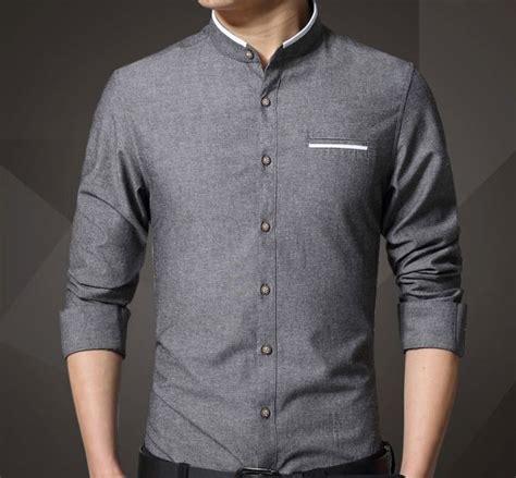 jersey design with collar men stand collar oxford shirt mandarin collar oxford