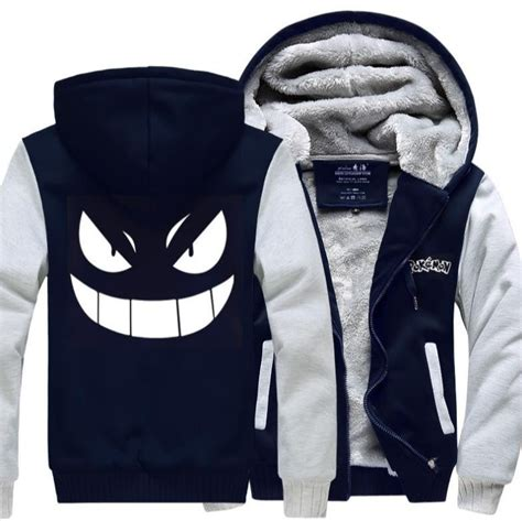 Hoodie Gengar Go Merah Utfa show your for with this stylish gengar hooded jacket with this gotta catch