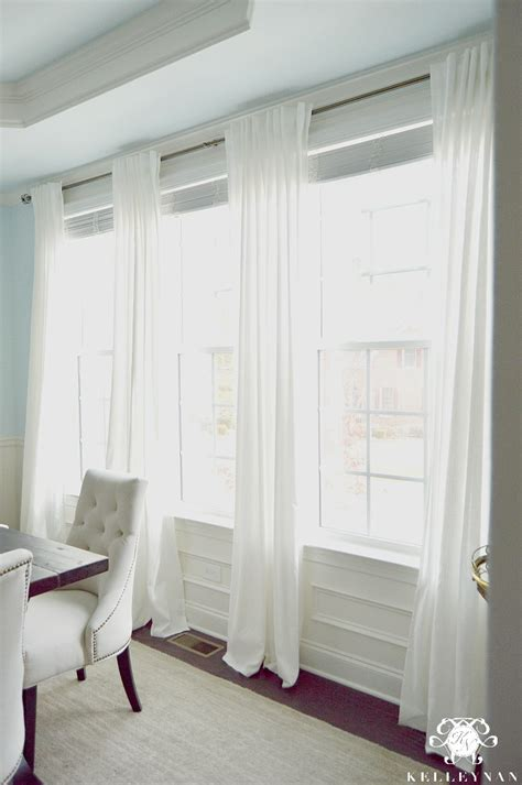 how to hang ikea curtains the favorite white budget friendly curtains