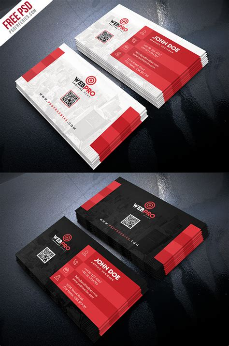 St Card Template Psd by Creative Business Card Template Psd Bundle Psdfreebies