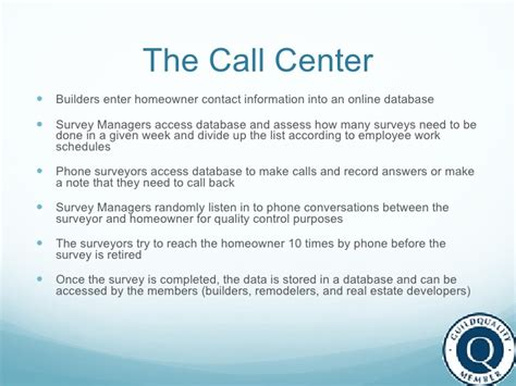 call center work system
