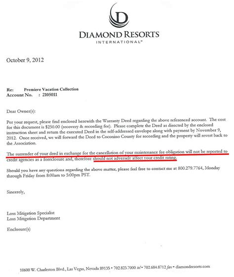 cancellation letter for timeshare contract resorts timeshare cancellation