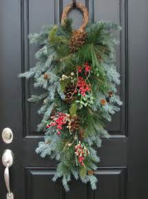 christmas swag wreath a winter gatherings swag by