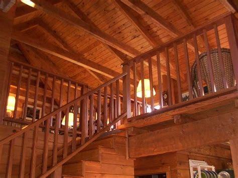 Log Cabin Ceilings by Lovely Pitched Ceilings Log Cabin Home