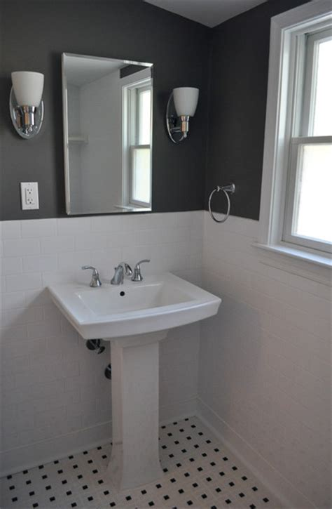 black and gray bathroom ideas pedestal sink traditional bathroom philadelphia by