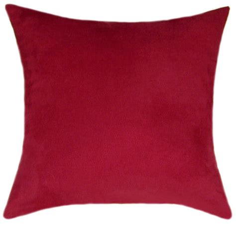 red couch pillows red suede throw pillow decorative pillow accent pillow