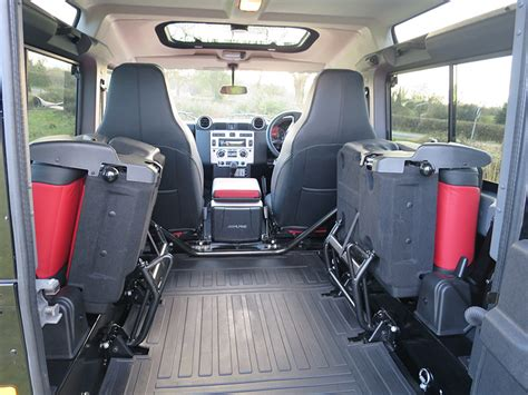 land rover defender interior back seat land rover defender 90 station wagon xs spec review