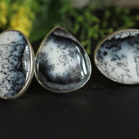 Buy Unique Dendritic Opal Statement ring, Artisan Gemstone