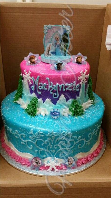 Tikar Lipat Elresas frozen cake 2 tier buttercream let it go cupcakes