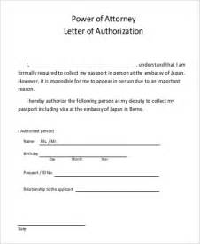 Authorization Letter Attorney Authorization Letter Sles