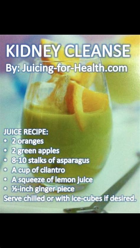 Kidney Detox by Kidney Cleanse Juice Heal My Kidney