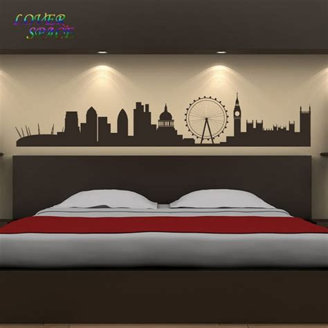 room decals for landmarks wall sticker skyline wall living room background wall stickers home decor