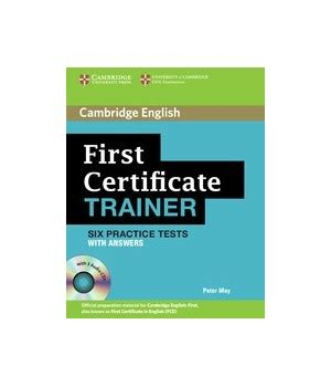 first for schools trainer 110744604x first certificate trainer with answers cd cambridge libroidiomas