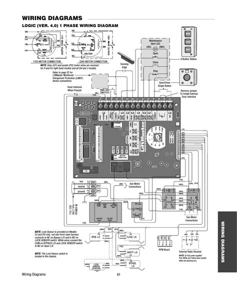 liftmaster wiring diagram wiring diagrams schematics