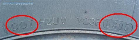 Motorradreifen Produktionsdatum by Reifen Herstellungsdatum Dot Nummer Dbv Alufelgen Und