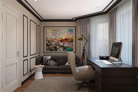 modern classic interior design home office designs on behance