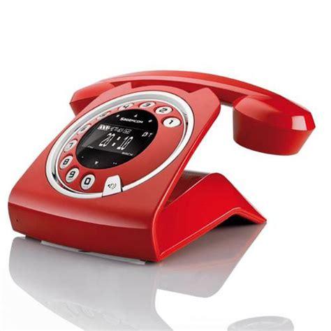 imagenes de telefonos retro sagemcom tel 233 fono dect vintage sixty m l rojo en fnac es